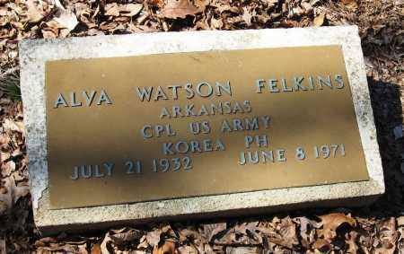 FELKINS  (VETERAN KOR), ALVA WATSON - Pope County, Arkansas | ALVA WATSON FELKINS  (VETERAN KOR) - Arkansas Gravestone Photos