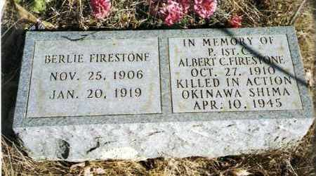 FIRESTONE (VETERAN WWII), ALBERT C - Pope County, Arkansas | ALBERT C FIRESTONE (VETERAN WWII) - Arkansas Gravestone Photos