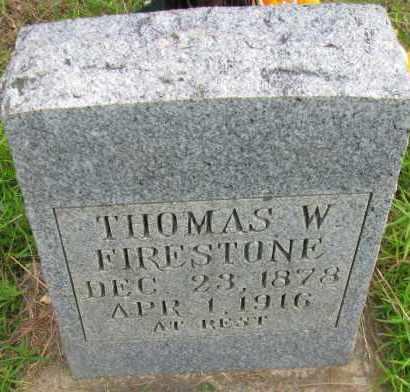 FIRESTONE, THOMAS W - Pope County, Arkansas | THOMAS W FIRESTONE - Arkansas Gravestone Photos