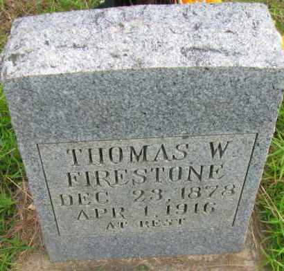 FIRESTONE, THOMAS W - Pope County, Arkansas | THOMAS W FIRESTONE - Arkansas Gravestone Photos