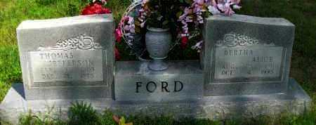 FORD, BERTHA ALICE - Pope County, Arkansas | BERTHA ALICE FORD - Arkansas Gravestone Photos