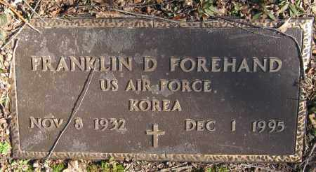 FOREHAND  (VETERAN KOR), FRANKLIN D - Pope County, Arkansas | FRANKLIN D FOREHAND  (VETERAN KOR) - Arkansas Gravestone Photos