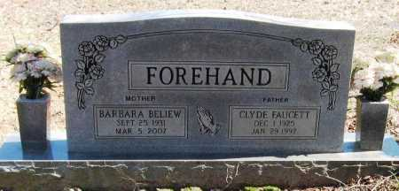 FOREHAND, CLYDE FAUCETT - Pope County, Arkansas   CLYDE FAUCETT FOREHAND - Arkansas Gravestone Photos