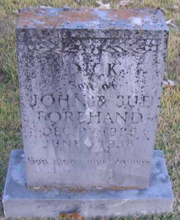 FOREHAND, DICK - Pope County, Arkansas   DICK FOREHAND - Arkansas Gravestone Photos