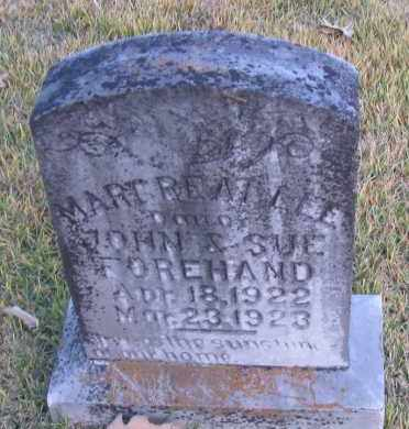 FOREHAND, MARGREAT LEE - Pope County, Arkansas | MARGREAT LEE FOREHAND - Arkansas Gravestone Photos