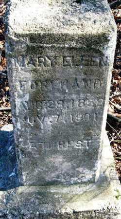 FOREHAND, MARY ELLEN - Pope County, Arkansas | MARY ELLEN FOREHAND - Arkansas Gravestone Photos
