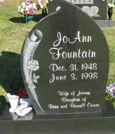 FOUNTAIN, JO ANN - Pope County, Arkansas | JO ANN FOUNTAIN - Arkansas Gravestone Photos