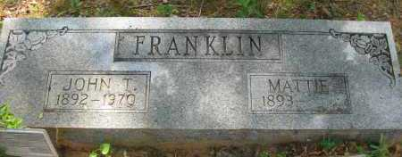 FRANKLIN, MATTIE - Pope County, Arkansas | MATTIE FRANKLIN - Arkansas Gravestone Photos