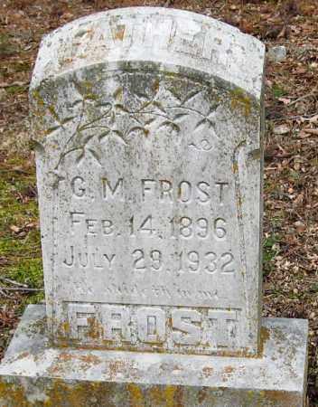 FROST, G  M - Pope County, Arkansas   G  M FROST - Arkansas Gravestone Photos