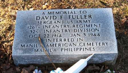 FULLER  (VETERAN WWII), DAVID E - Pope County, Arkansas | DAVID E FULLER  (VETERAN WWII) - Arkansas Gravestone Photos