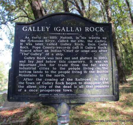 *GALLEY ROCK HISTORICAL SIGN,  - Pope County, Arkansas |  *GALLEY ROCK HISTORICAL SIGN - Arkansas Gravestone Photos