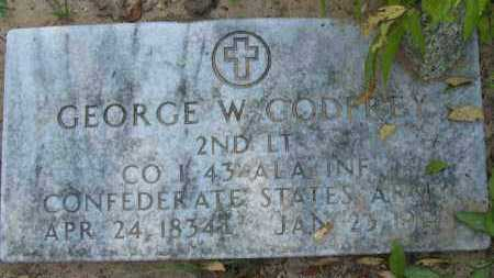 GODFREY (VETERAN CSA), GEORGE W - Pope County, Arkansas   GEORGE W GODFREY (VETERAN CSA) - Arkansas Gravestone Photos