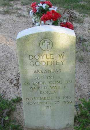 GODFREY (VETERAN 2 WARS), DOYLE W - Pope County, Arkansas | DOYLE W GODFREY (VETERAN 2 WARS) - Arkansas Gravestone Photos