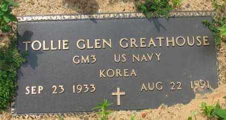 GREATHOUSE (VETERAN KOR), TOLLIE GLEN - Pope County, Arkansas | TOLLIE GLEN GREATHOUSE (VETERAN KOR) - Arkansas Gravestone Photos