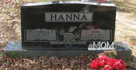 HANNA, IRENE - Pope County, Arkansas | IRENE HANNA - Arkansas Gravestone Photos
