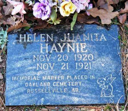HAYNIE, HELEN JUANITA - Pope County, Arkansas   HELEN JUANITA HAYNIE - Arkansas Gravestone Photos