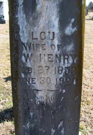 HENRY, LOU - Pope County, Arkansas | LOU HENRY - Arkansas Gravestone Photos