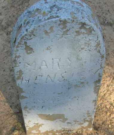 HENSLEY, MARY - Pope County, Arkansas | MARY HENSLEY - Arkansas Gravestone Photos