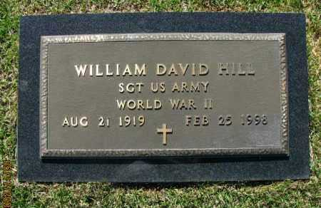 HILL (VETERAN WWII), WILLIAM DAVID - Pope County, Arkansas | WILLIAM DAVID HILL (VETERAN WWII) - Arkansas Gravestone Photos