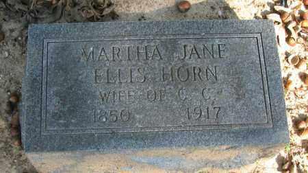 ELLIS HORN, MARTHA JANE - Pope County, Arkansas | MARTHA JANE ELLIS HORN - Arkansas Gravestone Photos