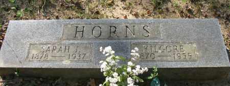 HORN, KILGORE - Pope County, Arkansas   KILGORE HORN - Arkansas Gravestone Photos