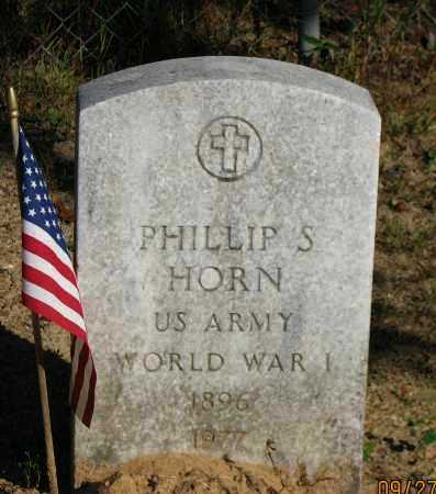 HORN (VETERAN WWI), PHILLIP S - Pope County, Arkansas | PHILLIP S HORN (VETERAN WWI) - Arkansas Gravestone Photos