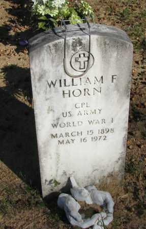 HORN (VETERAN WWI), WILLIAM F - Pope County, Arkansas | WILLIAM F HORN (VETERAN WWI) - Arkansas Gravestone Photos