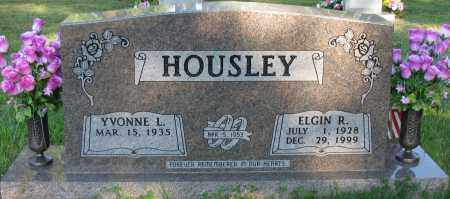 HOUSLEY, ELGIN R - Pope County, Arkansas | ELGIN R HOUSLEY - Arkansas Gravestone Photos