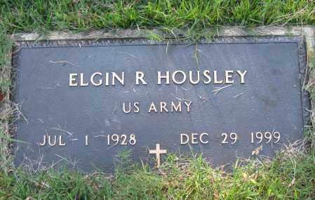 HOUSLEY (VETERAN), ELGIN R - Pope County, Arkansas | ELGIN R HOUSLEY (VETERAN) - Arkansas Gravestone Photos