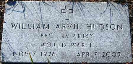 HUDSON  (VETERAN WWII), WILLIAM ARVIL - Pope County, Arkansas | WILLIAM ARVIL HUDSON  (VETERAN WWII) - Arkansas Gravestone Photos