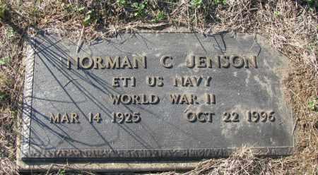 JENSON (VETERAN WWII), NORMAN C - Pope County, Arkansas   NORMAN C JENSON (VETERAN WWII) - Arkansas Gravestone Photos