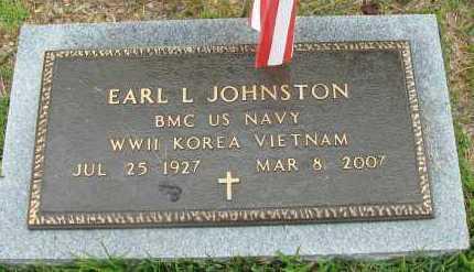 JOHNSTON (VETERAN 3 WARS), EARL L - Pope County, Arkansas   EARL L JOHNSTON (VETERAN 3 WARS) - Arkansas Gravestone Photos