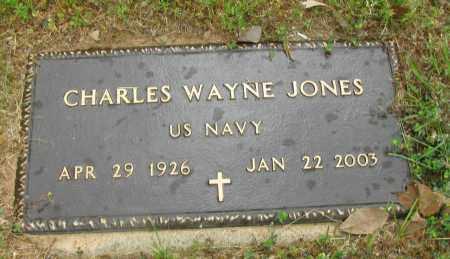 JONES  (VETERAN), CHARLES WAYNE - Pope County, Arkansas   CHARLES WAYNE JONES  (VETERAN) - Arkansas Gravestone Photos