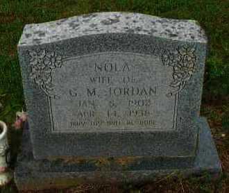 JORDAN, NOLA - Pope County, Arkansas | NOLA JORDAN - Arkansas Gravestone Photos