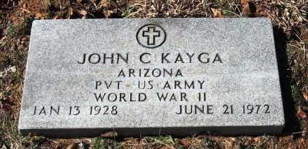 KAYGA  (VETERAN WWII), JOHN C - Pope County, Arkansas   JOHN C KAYGA  (VETERAN WWII) - Arkansas Gravestone Photos