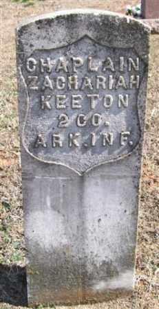 KEETON (VETERAN UNION), ZACHARIAH - Pope County, Arkansas | ZACHARIAH KEETON (VETERAN UNION) - Arkansas Gravestone Photos