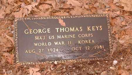 KEYS  (VETERAN 2 WARS), GEORGE THOMAS - Pope County, Arkansas | GEORGE THOMAS KEYS  (VETERAN 2 WARS) - Arkansas Gravestone Photos