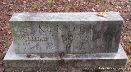 KINDER, ELIJAH - Pope County, Arkansas | ELIJAH KINDER - Arkansas Gravestone Photos