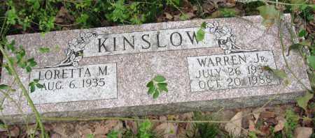 KINSLOW, JR, WARREN - Pope County, Arkansas   WARREN KINSLOW, JR - Arkansas Gravestone Photos