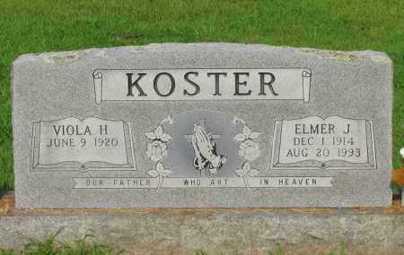 KOSTER, ELMER J - Pope County, Arkansas | ELMER J KOSTER - Arkansas Gravestone Photos