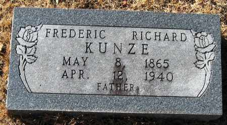 KUNZE, FREDERIC RICHARD - Pope County, Arkansas | FREDERIC RICHARD KUNZE - Arkansas Gravestone Photos