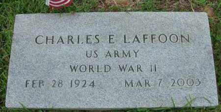 LAFFOON (VETERAN WWII), CHARLES E - Pope County, Arkansas | CHARLES E LAFFOON (VETERAN WWII) - Arkansas Gravestone Photos