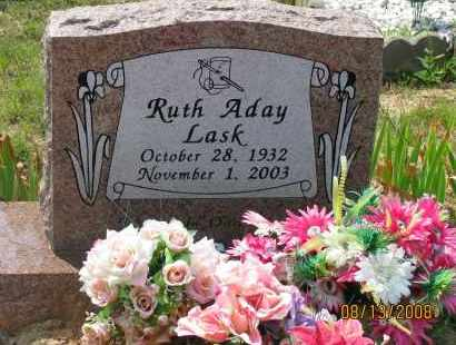 ADAY LASK, RUTH - Pope County, Arkansas | RUTH ADAY LASK - Arkansas Gravestone Photos
