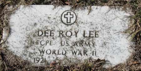 LEE  (VETERAN WWII), DEE ROY - Pope County, Arkansas | DEE ROY LEE  (VETERAN WWII) - Arkansas Gravestone Photos