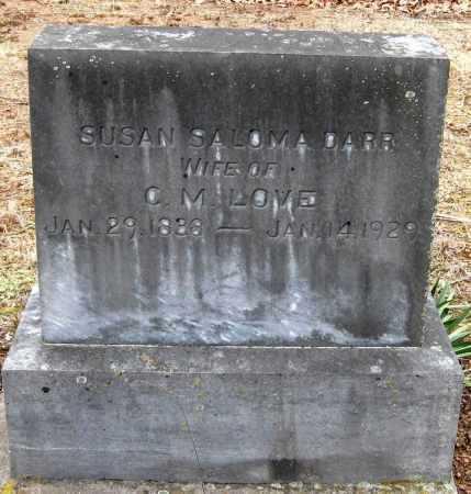 DARR LOVE, SUSAN SALOMA - Pope County, Arkansas | SUSAN SALOMA DARR LOVE - Arkansas Gravestone Photos