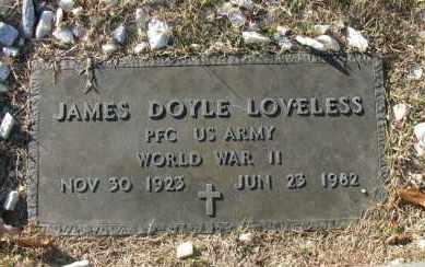 LOVELESS (VETERAN WWII), JAMES DOYLE - Pope County, Arkansas   JAMES DOYLE LOVELESS (VETERAN WWII) - Arkansas Gravestone Photos