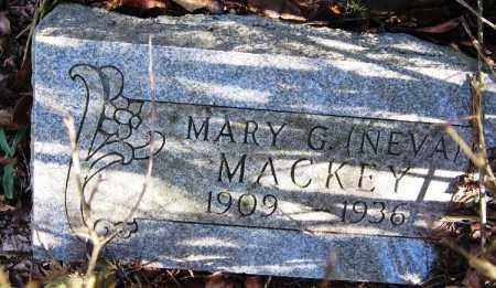 MACKEY, MARY G. (NEVA) - Pope County, Arkansas   MARY G. (NEVA) MACKEY - Arkansas Gravestone Photos