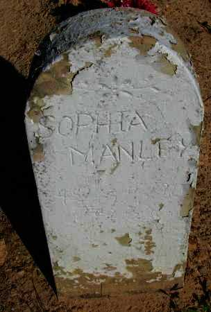 MANLEY, SOPHIA - Pope County, Arkansas | SOPHIA MANLEY - Arkansas Gravestone Photos