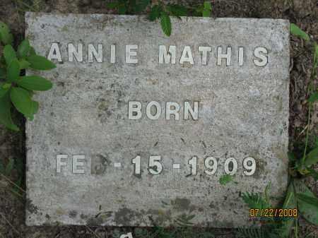 MATHIS, ANNIE - Pope County, Arkansas | ANNIE MATHIS - Arkansas Gravestone Photos