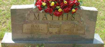 MATHIS, ALVA - Pope County, Arkansas | ALVA MATHIS - Arkansas Gravestone Photos